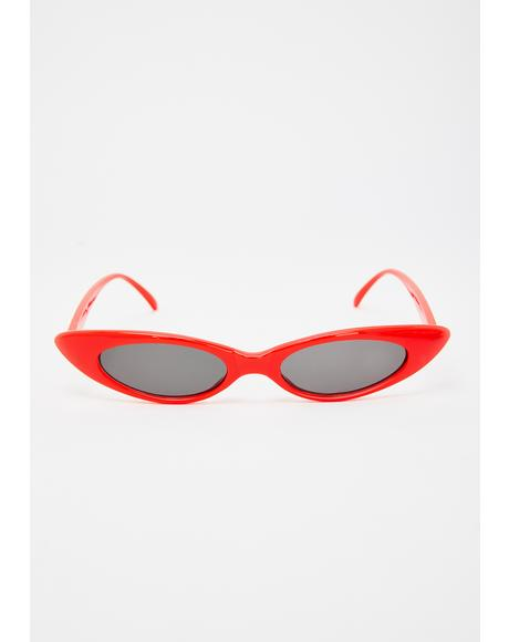 Cherry Wastin' My Time Cat Eye Sunglasses