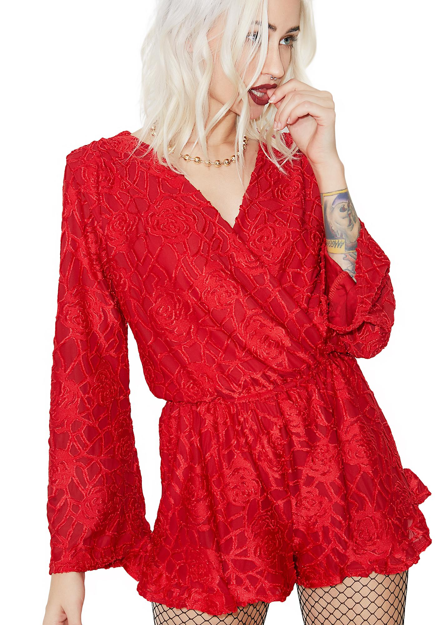 Choose Love Velvet Romper