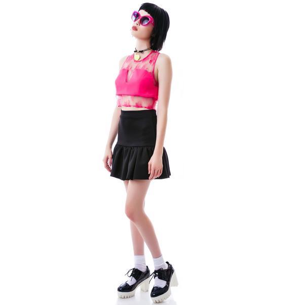 So You Pink Sheer Bustier Top
