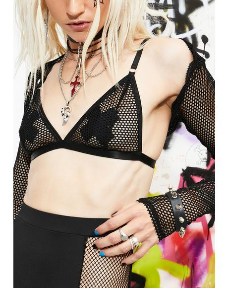 Rock Idol Fishnet Top Set