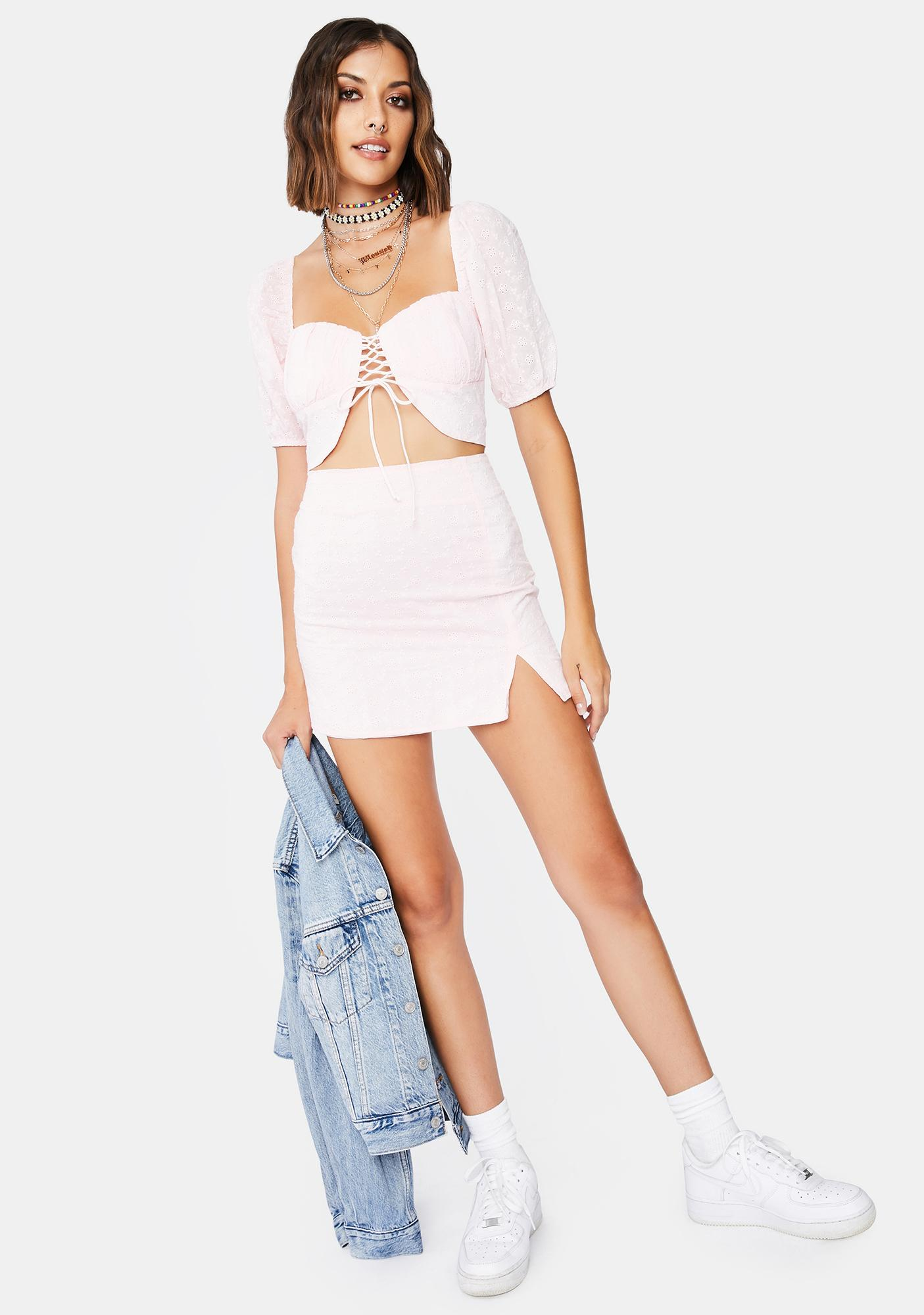 Blush Raison D'Etre Skirt Set