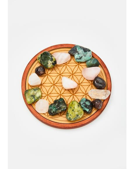 Love Flower Of Life Crystal Grid Set
