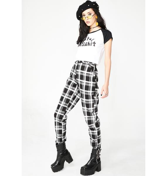 Wicked Misconduct Plaid Joggers