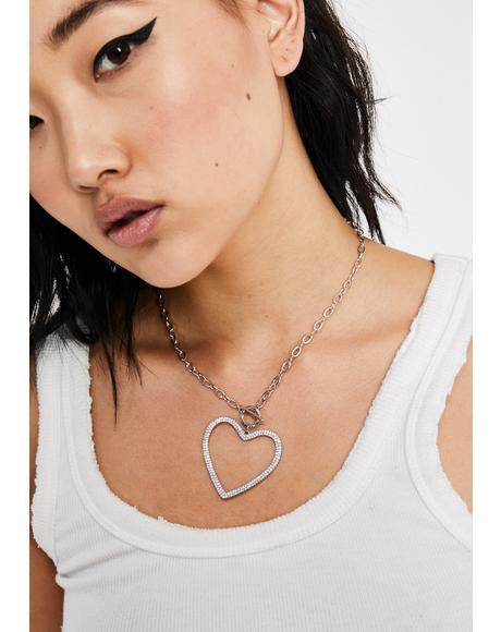 Love Light Rhinestone Necklace