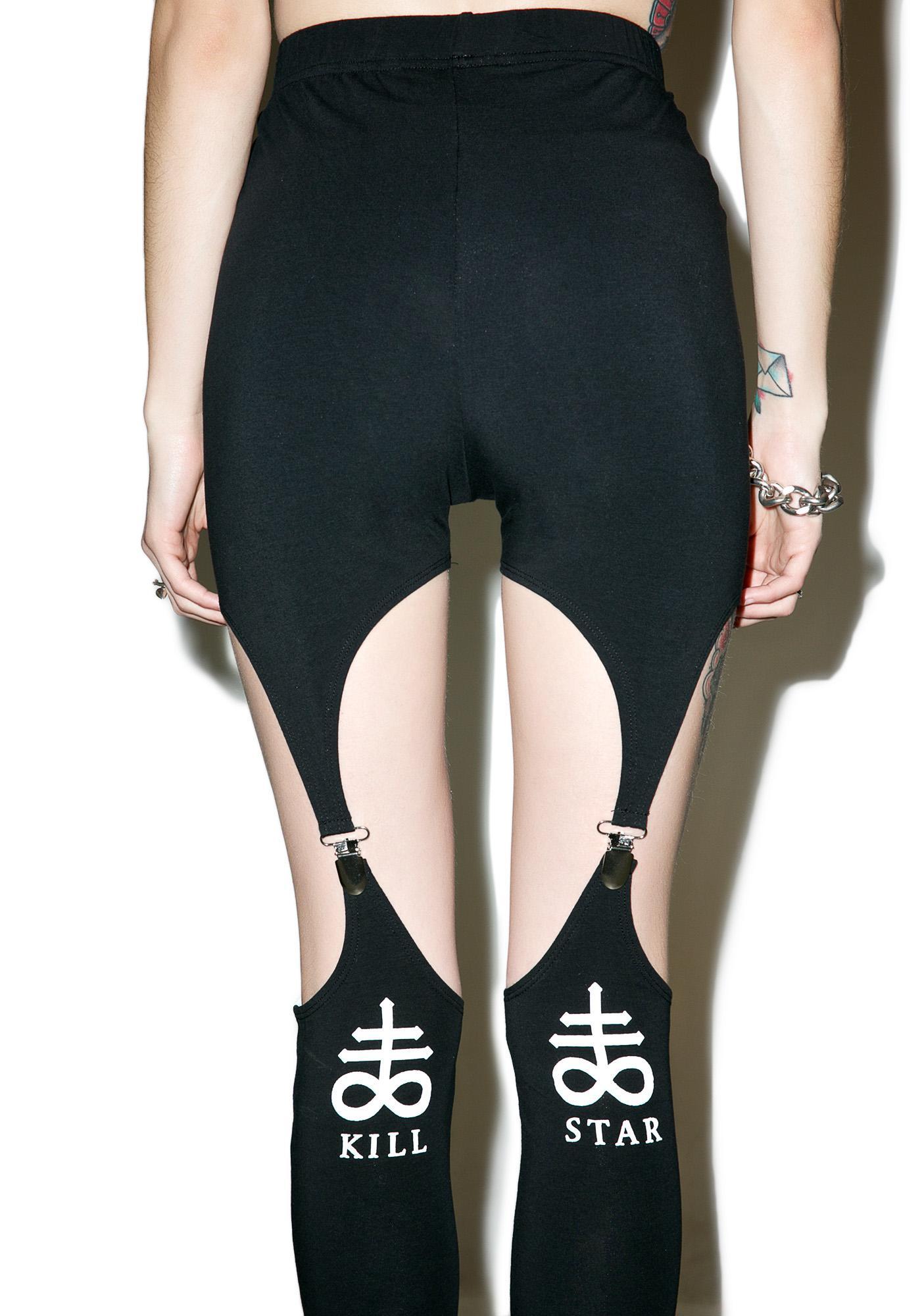 Killstar Killing It Suspender Leggings