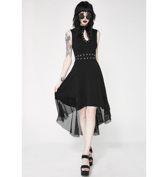 Tripp NYC Hi Lo Eyelet Dress