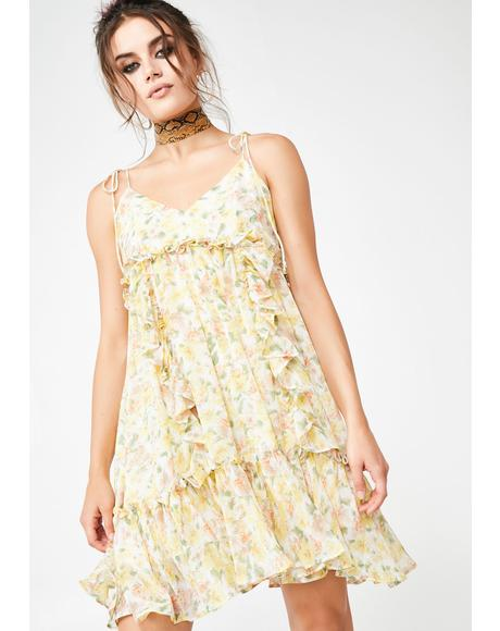 Citrus Kisses Floral Dress