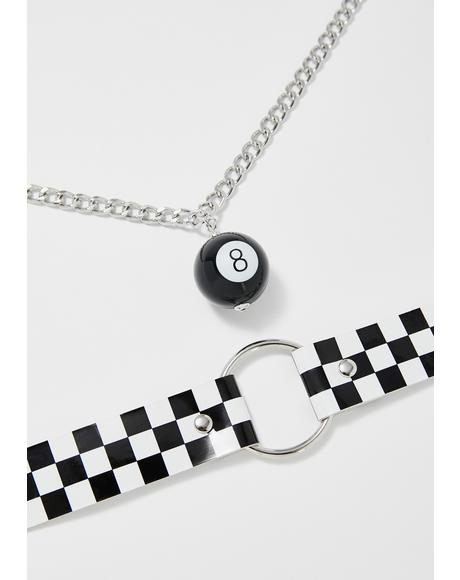 Try Again 8 Ball Necklace Set