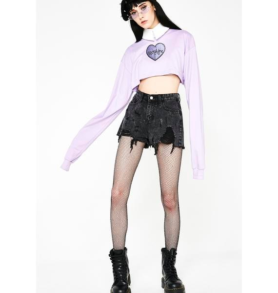 Morph8ne Violet Crop Sweater