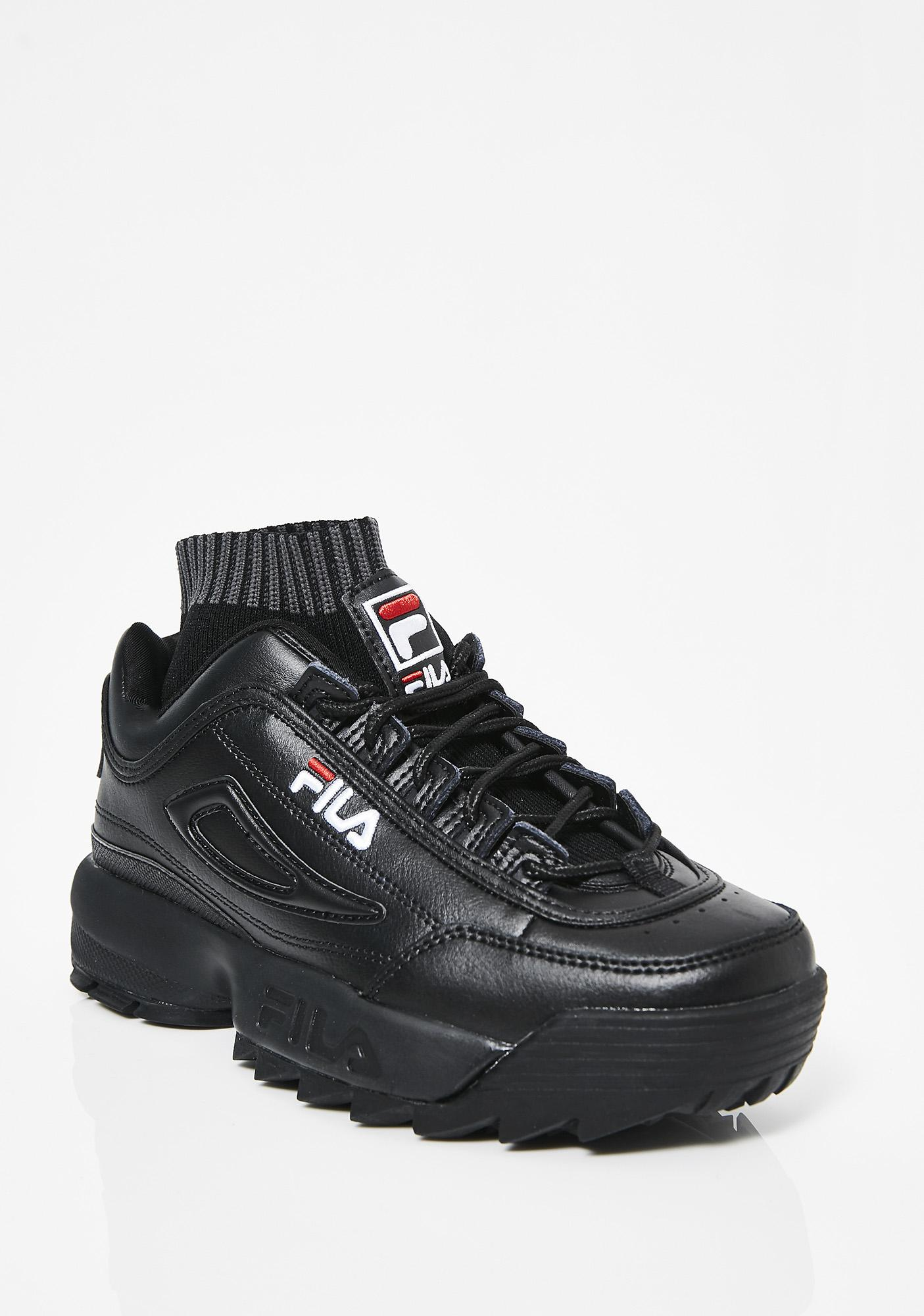 Dark Disruptor Evo Sockfit Sneakers by Fila