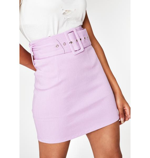 Guilty Gossip Belted Skirt