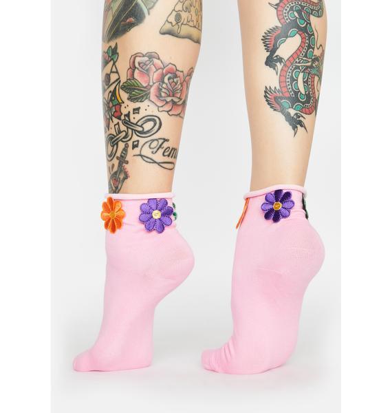 All U Wanted Daisy Ankle Socks