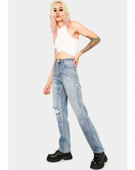 All Time Blues Slash Rebound Long Jeans