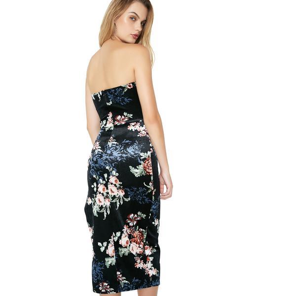 Pure Mystique Lace-Up Midi Dress