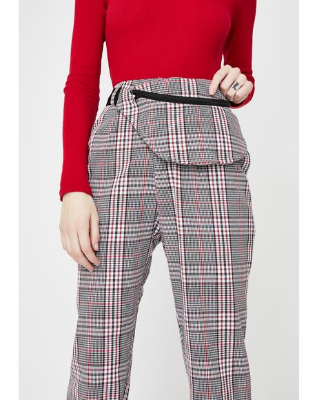 Check Cigarette Fanny Trousers