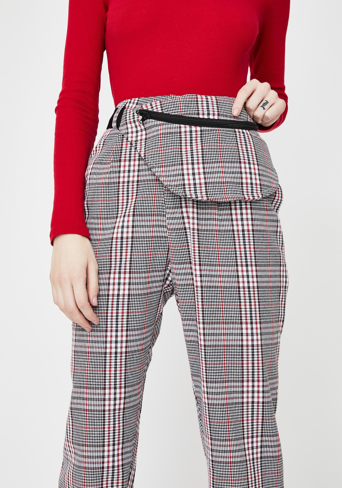 Daisy Street Check Cigarette Fanny Trousers