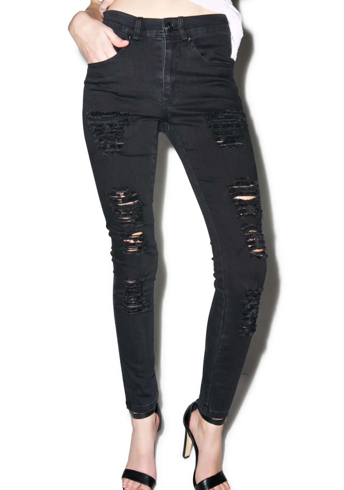 Disturbia Hell Distressed Jeans