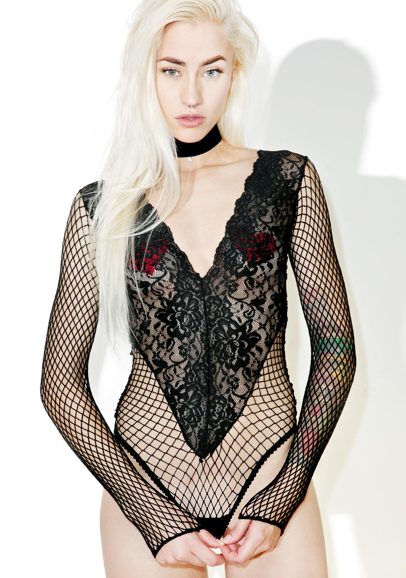 e332169394 I ve Been Bad Fishnet Bodysuit