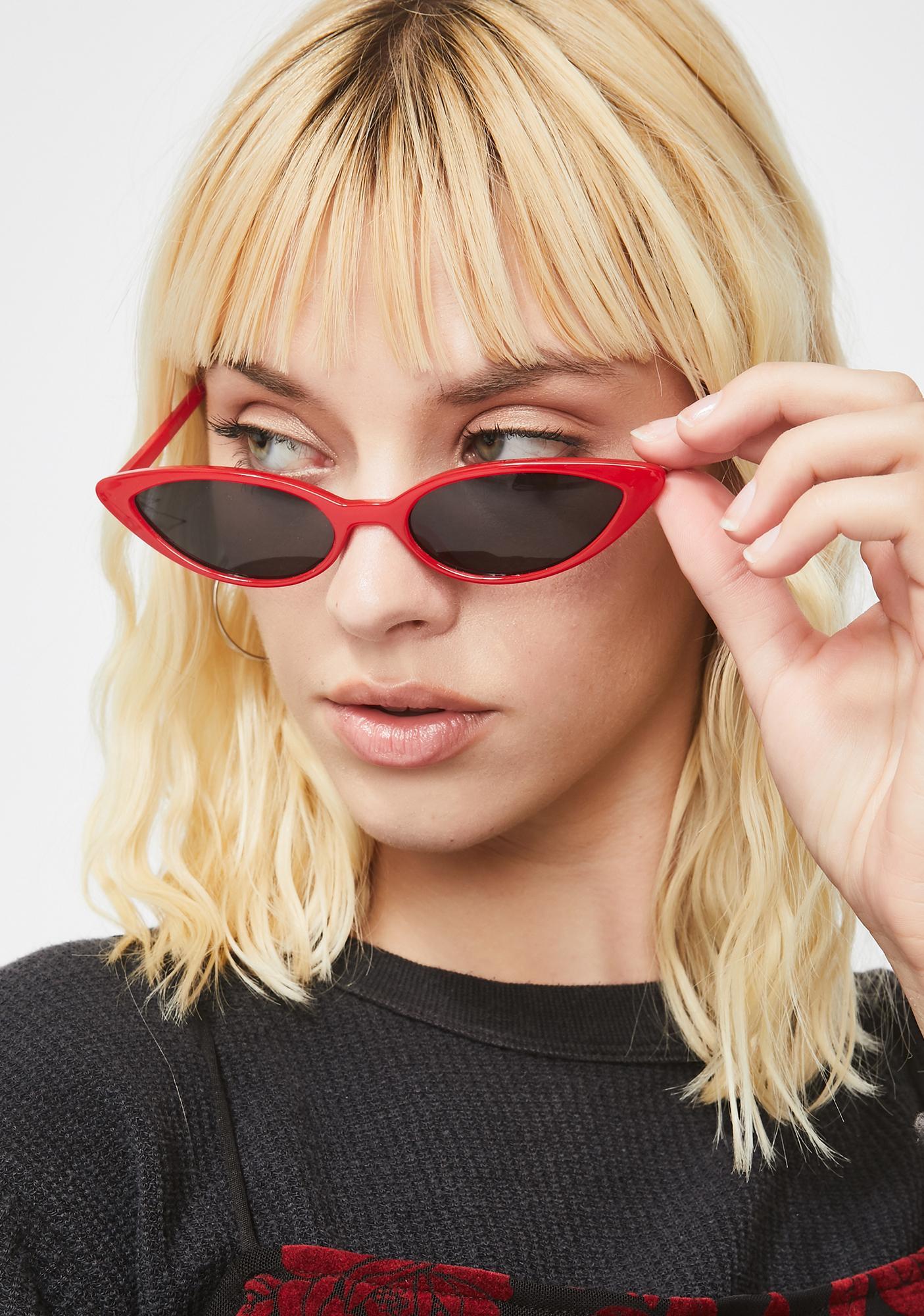 Hottie Know My Name Cat Eye Sunglasses