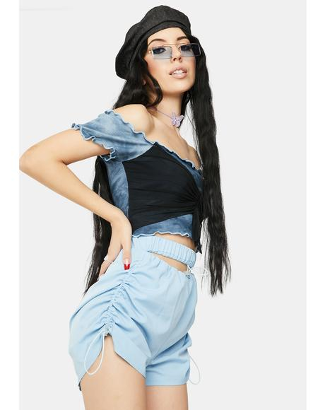 Moon Slit Shorts