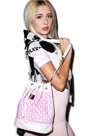 X Playboy Panel Bucket Bag