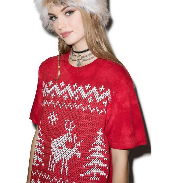 Naughty Reindeer Tee