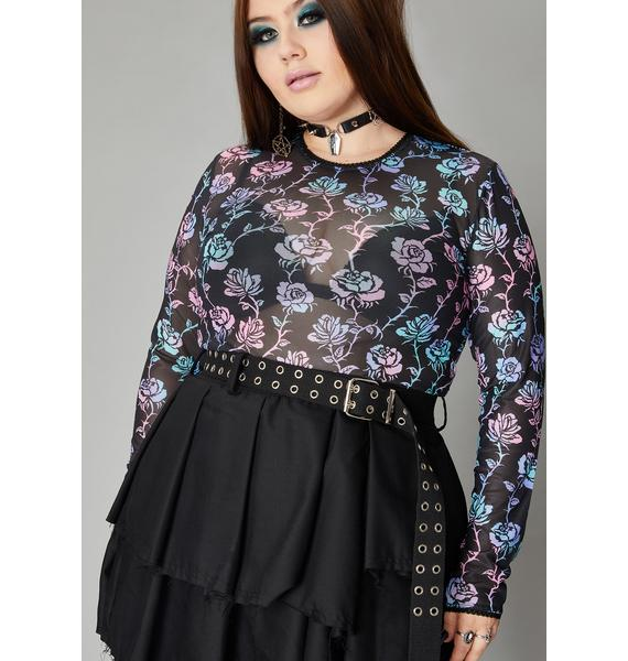 Widow Cursed Garden Of Evil Mesh Top