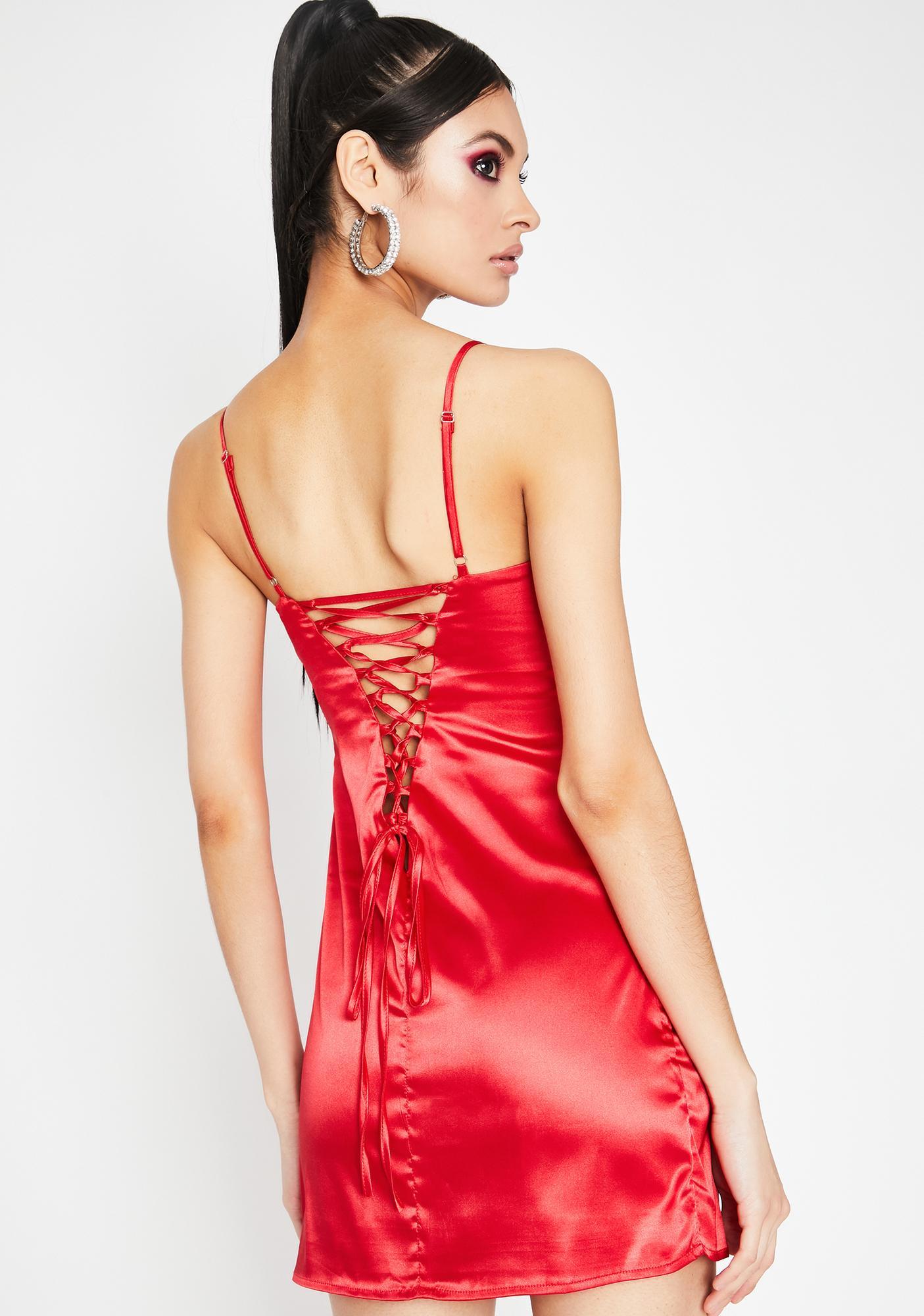 Cherry Haute Bish Satin Dress
