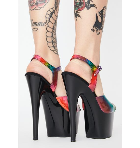 Pleaser Juicy Kat Stacks Adore Platform Heels