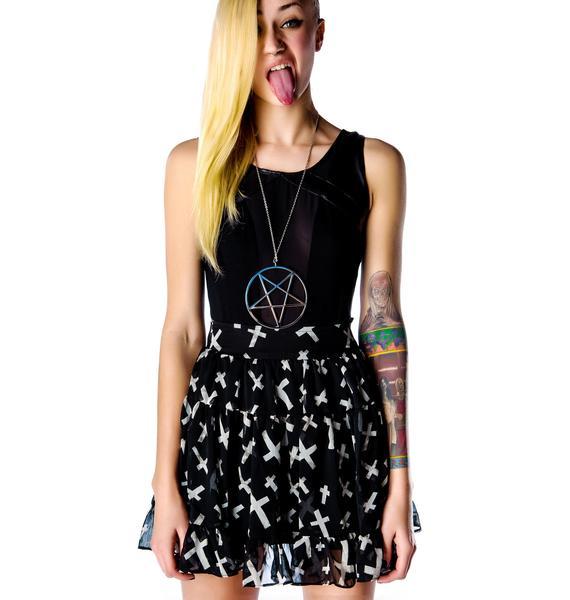 Tripp NYC Cross Chiffon Skirt