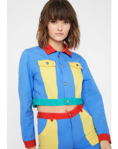 Primary Instincts Colorblock Jacket