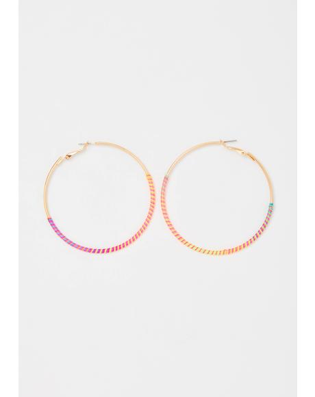 Brilliant Lil Miss Thang Hoop Earrings