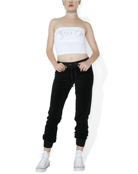 Velour High-Rise Zuma Pants
