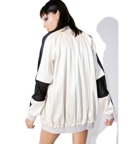 Kendall + Kylie Oversized Bomber Jacket