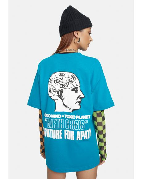 Turquoise Earth Crisis Sustainable Graphic Tee