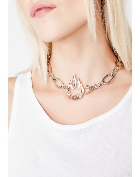 Oh So Lit Chain Choker