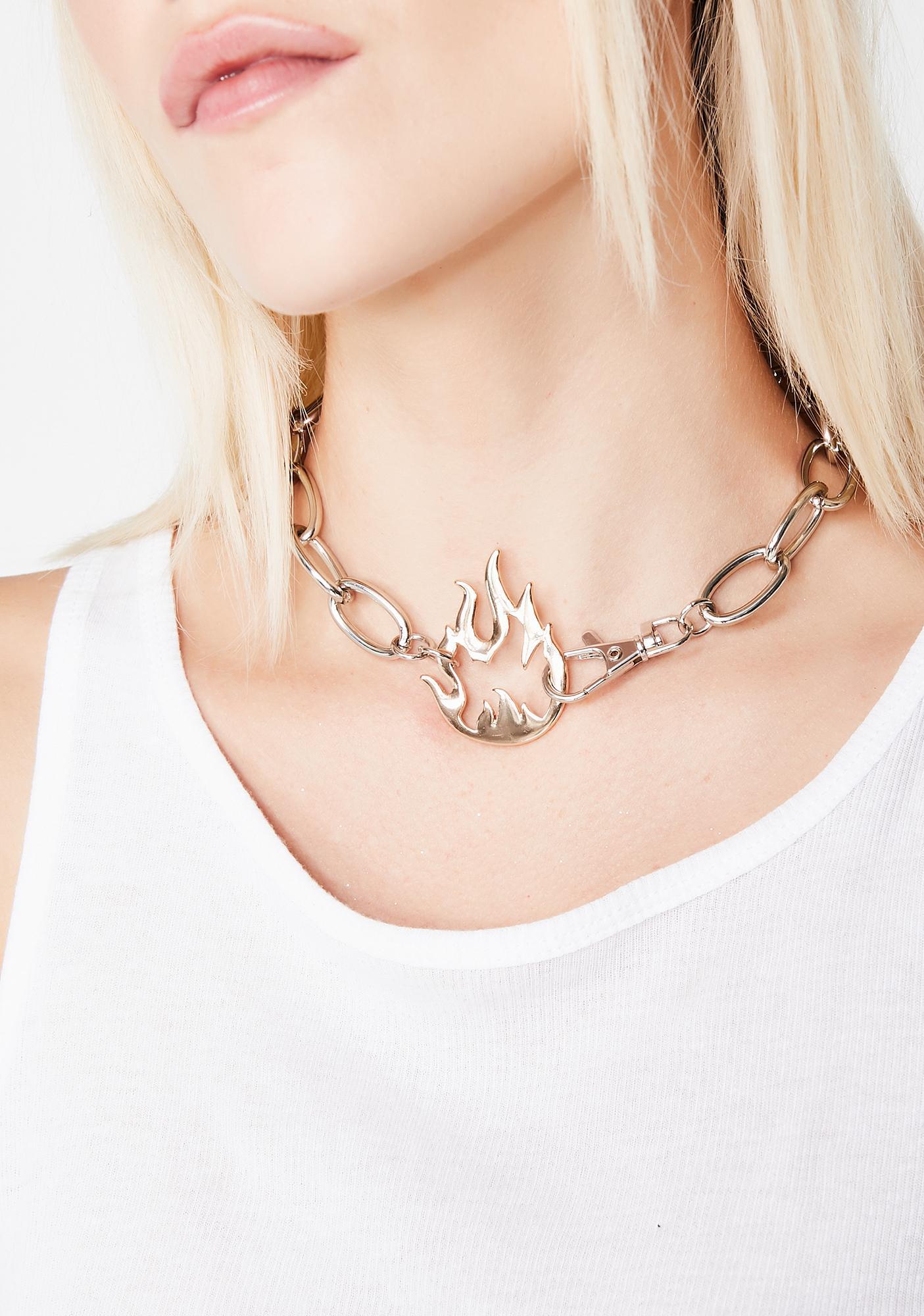 Oh So Lit Chain Choker