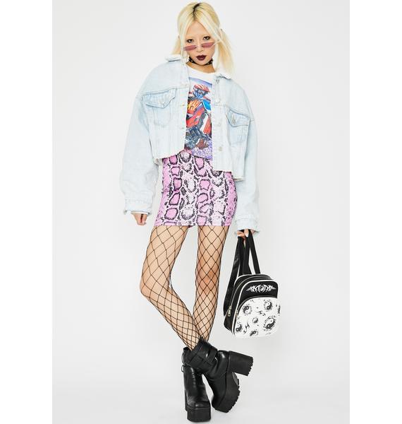 Sleek Seduction Snake Print Skirt