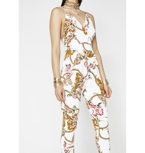 Steal Ya Love Printed Jumpsuit