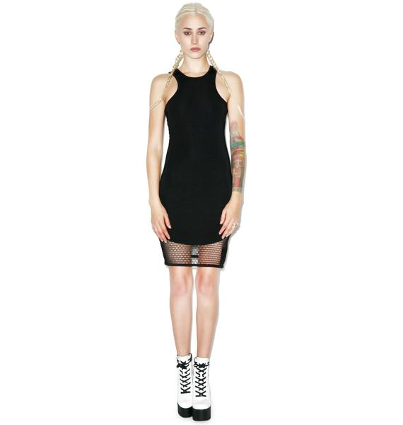 BLQ BASIQ Don't Mesh With Me Tank Dress