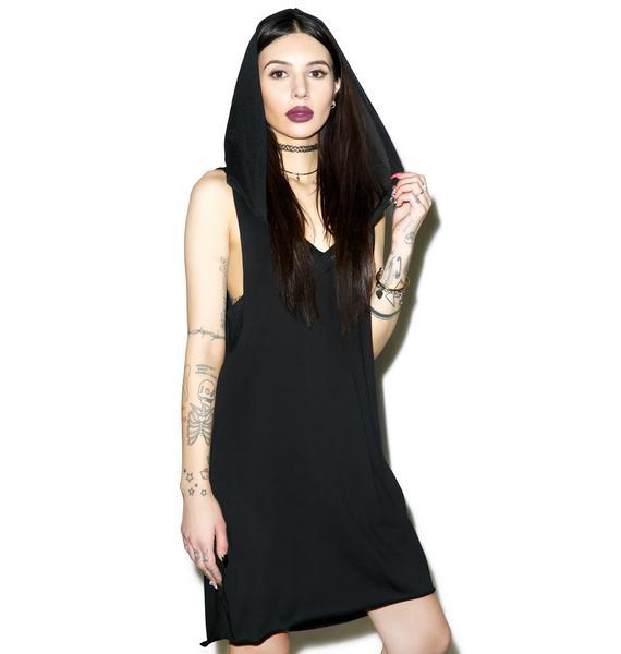 Widow Blasphemy Hooded Dress