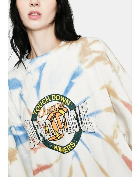 Tie Dye Super League Sweatshirt