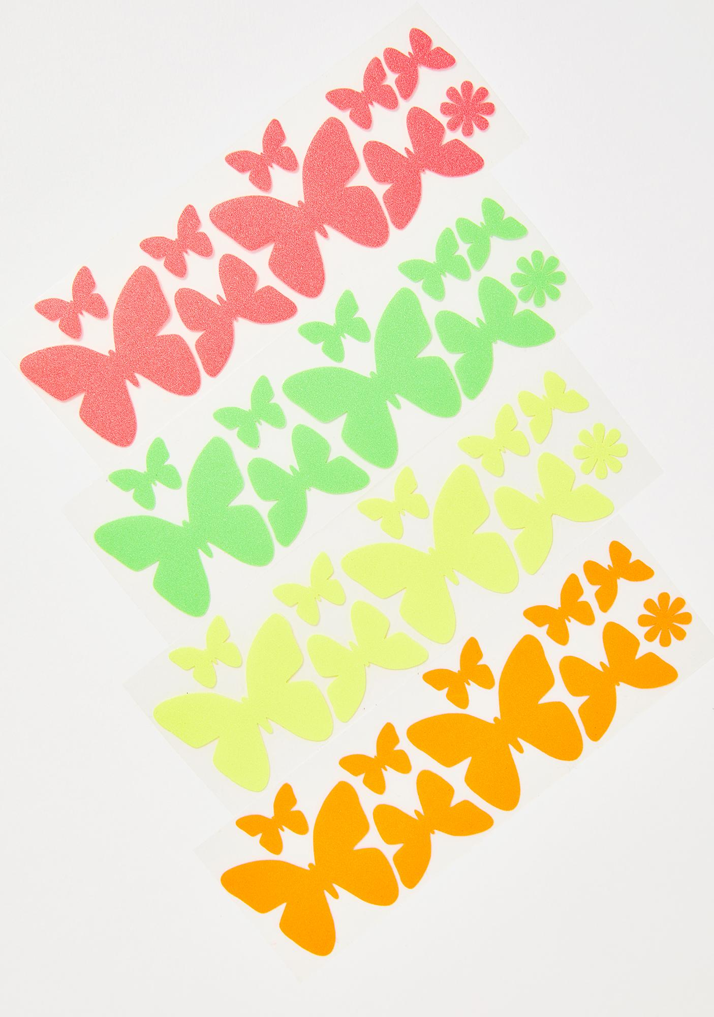 Sasswear Blacklight Butterflies Body Stickers