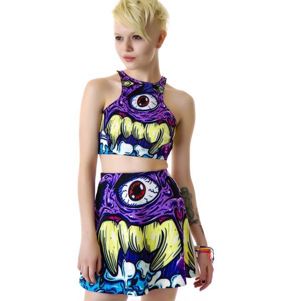 3rd Eye Monster Skater Skirt