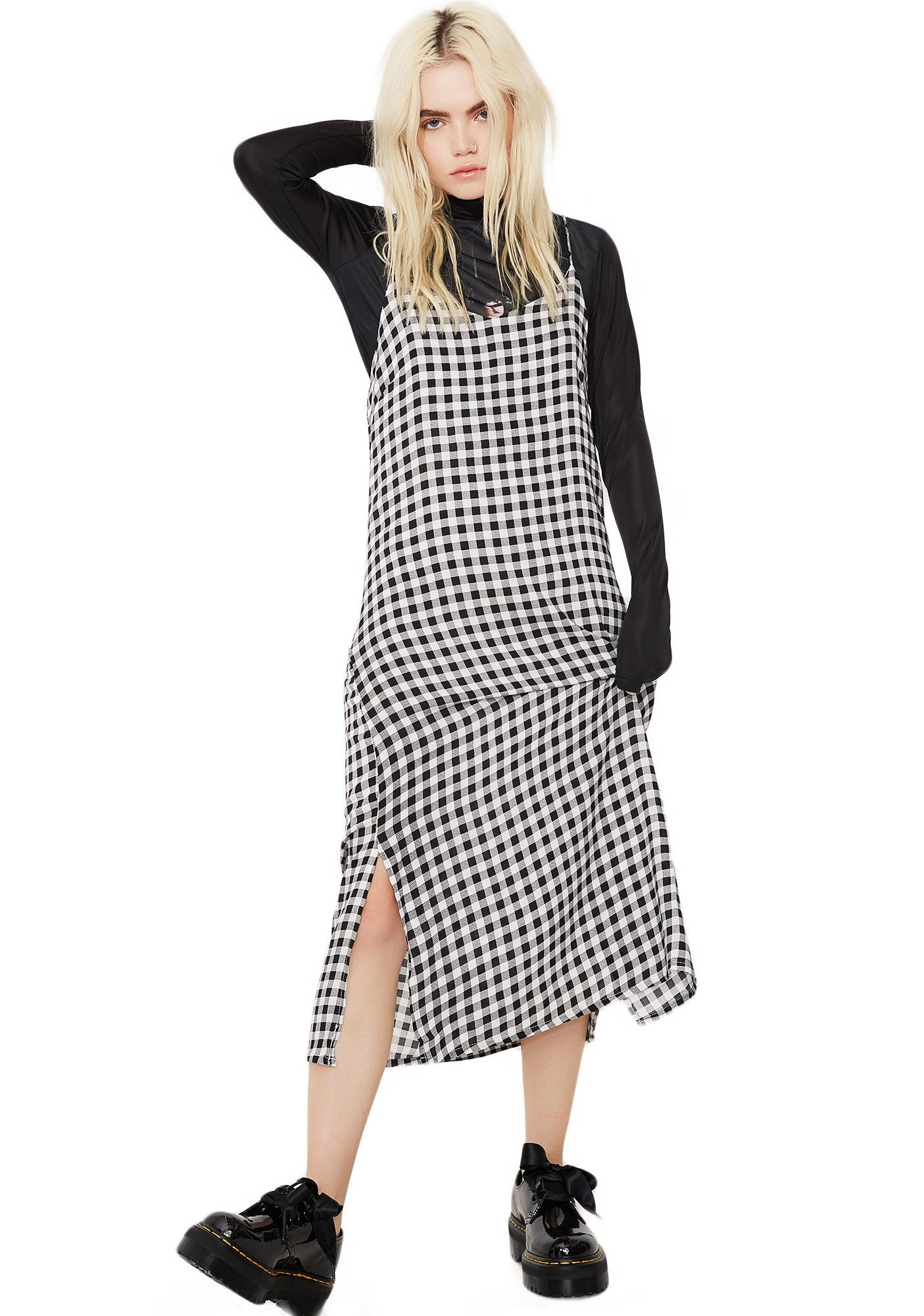 Glamorous Change Your Mind Checkered Dress