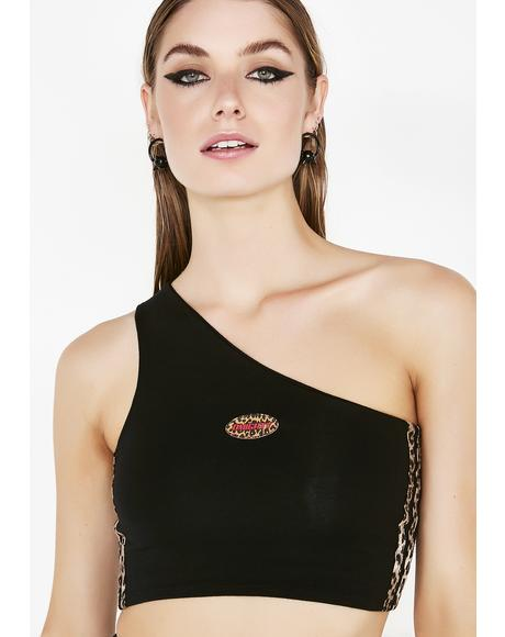 Fierce Logo One Shoulder Top