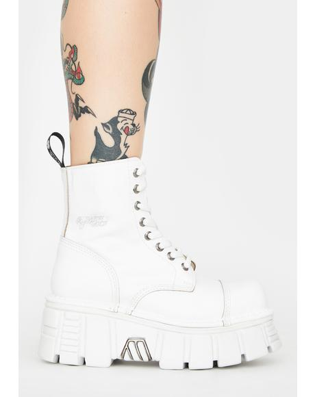 White Knife Combat Boots