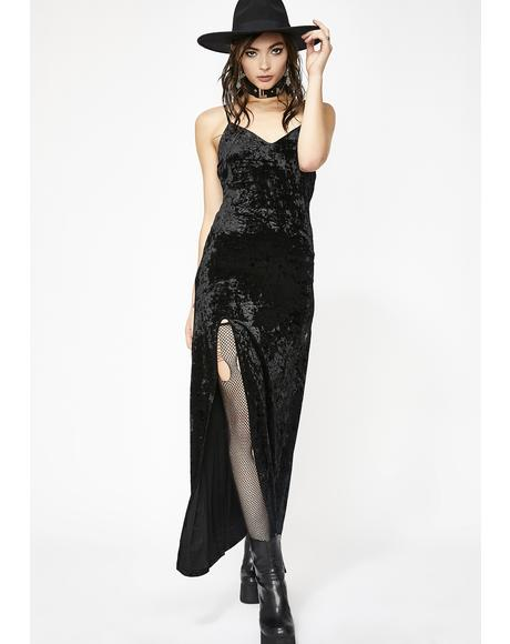 Crushed Desires Velvet Maxi Dress