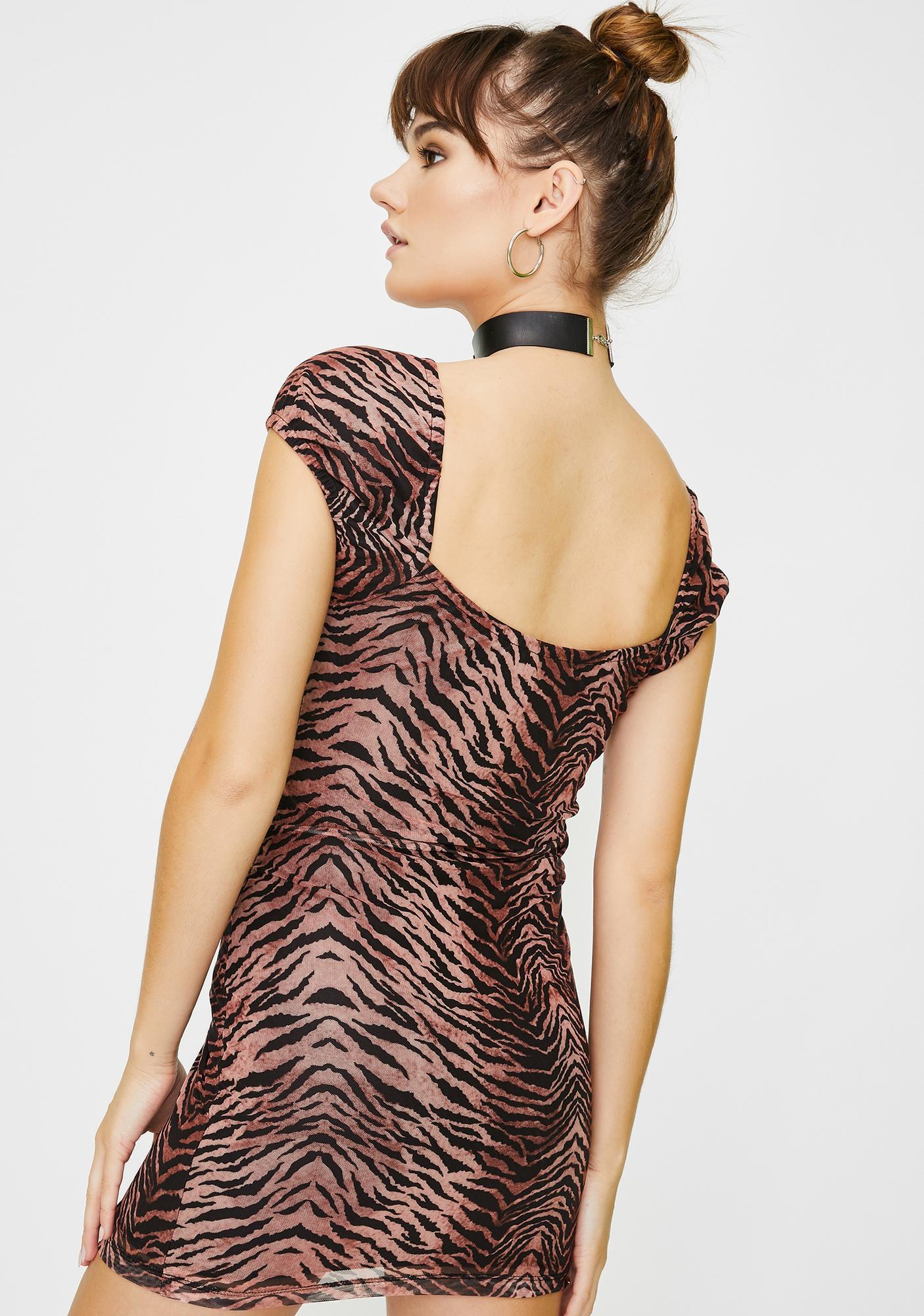 Motel Black Leopard Gala Dress