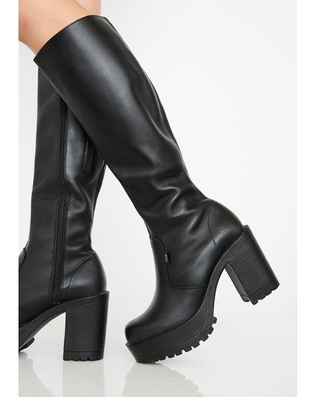 Gusto Knee High Boots